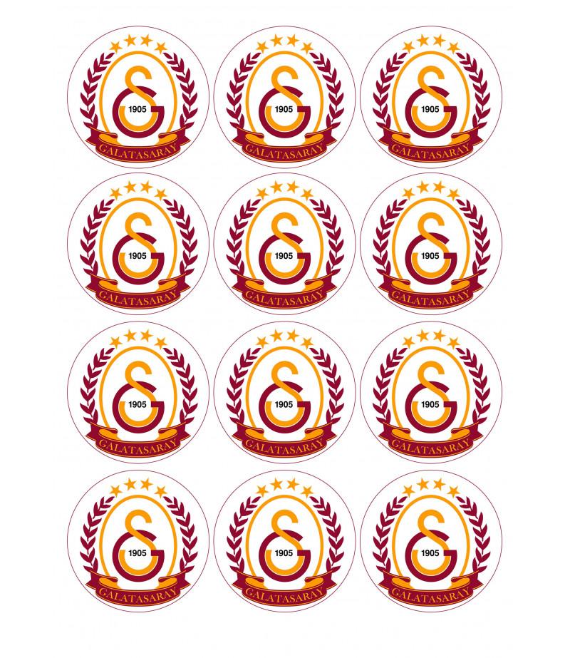 Galatasaray Kurabiye Için Seker Hamuru Baskısı