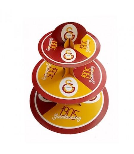 Galatasaray Temalı 3 Katlı Kek Standı