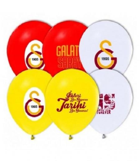 Galatasaray Temalı Parti Balonları - 8 adet