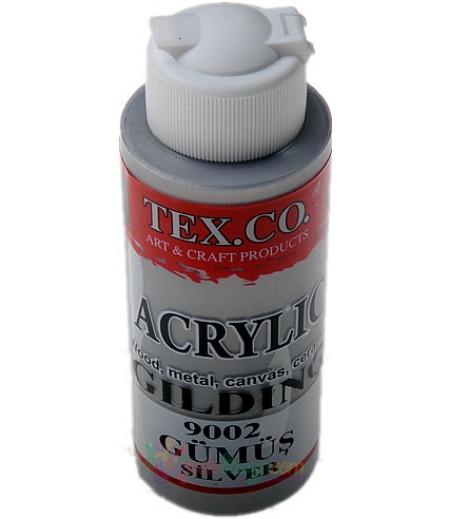 Gümüş Renk Akrilik Kokulu Taş Boyası,130ml