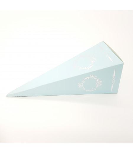 Gümüş Yaldızlı Süsleme Külah Şekerlik A.Mavi