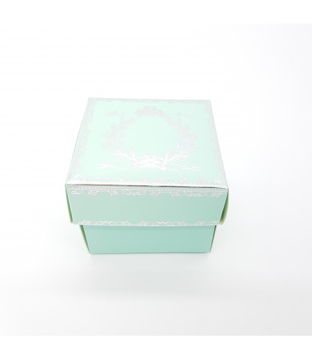 Gümüş Yaldızlı Süsleme Kutusu A.Mavi