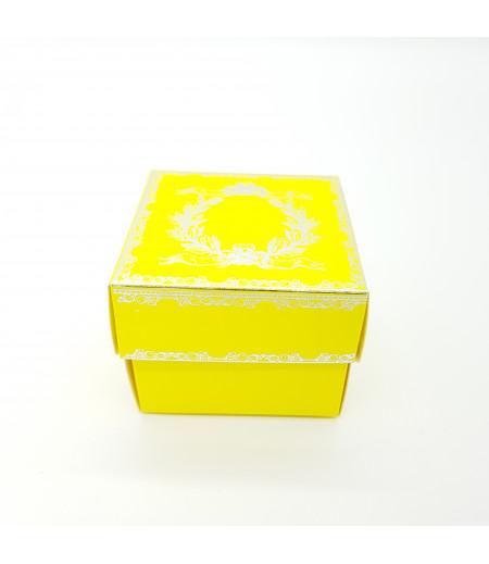 Gümüş Yaldızlı Süsleme Kutusu Sarı