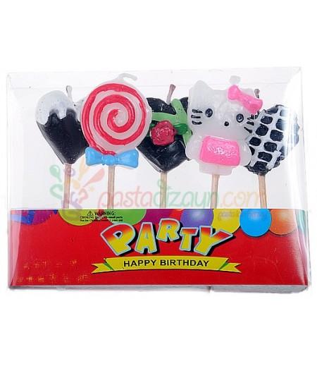Hello Kitty Doğum Günü Mumları