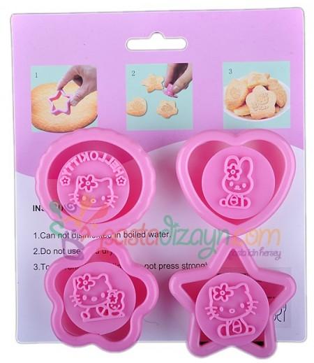 Hello Kitty Mini Kurabiye Kalıpları