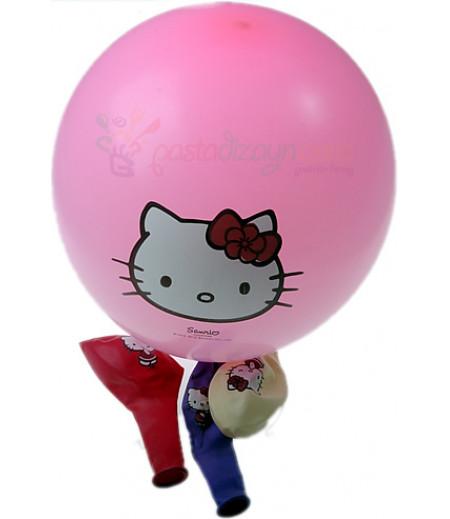 Hello Kitty Renkli Balon Seti,12 Adet
