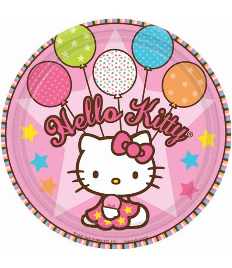 Hello Kitty Yuvarlak Şeker Hamuru Kağıdı İle Baskı