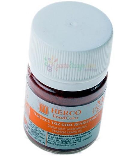 Herco Turuncu Renk Toz Gıda Boyası,10gr