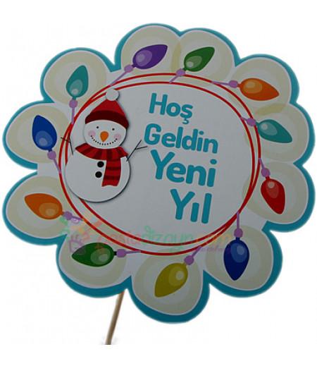 Hoş Geldin Yeni Yıl Konuşma Balonu