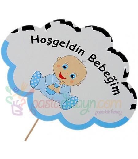 Hoşgeldin Erkek Bebeğim Konuşma Balonu