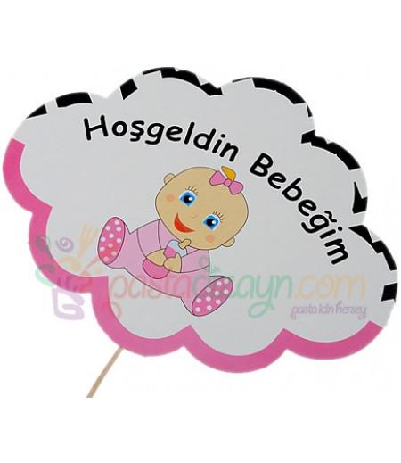 Hoşgeldin Kız Bebeğim Konuşma Balonu