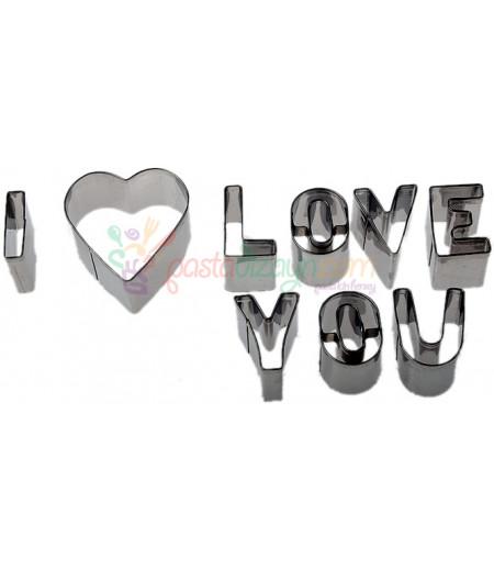 I Love You Kurabiye Kalıpları