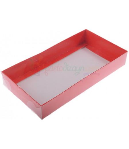 Kırmızı Renk Asetat Kutular,10x20x3cm,5 Adet