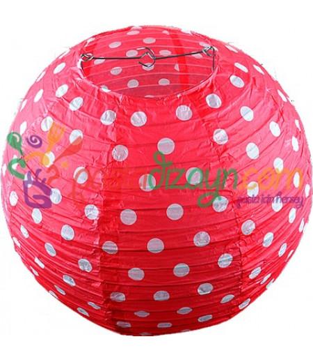 Kırmızı Renk Avize Büyük Parti Feneri