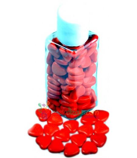 Kırmızı Renk Kalpli Yenilebilir Drajeler,30gr