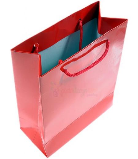 Kırmızı Renk Karton Çanta,14x17cm