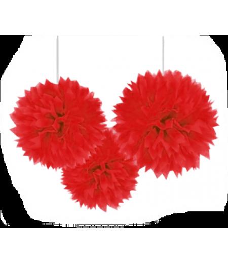 Kırmızı Renk Küçük Boy Ponpon,Adet