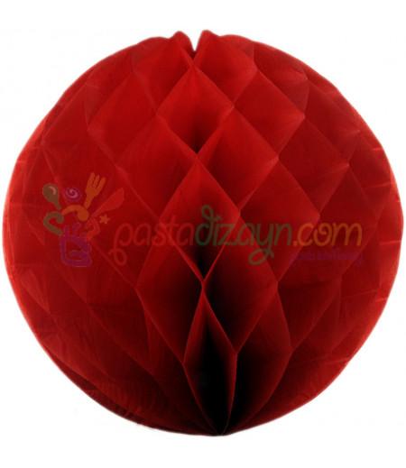 Kırmızı Renk Petek Parti Süslemesi,30cm