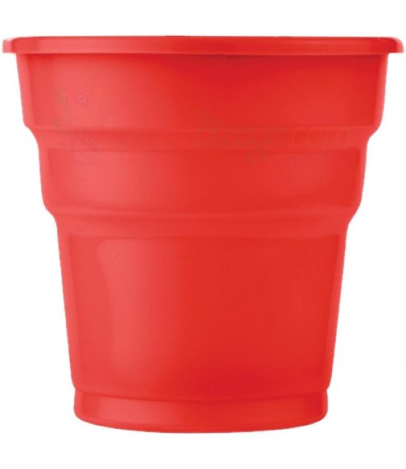 Kırmızı Renk Plastik Bardaklar,25 adet