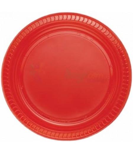 Kırmızı Renk Plastik Tabaklar,25 adet