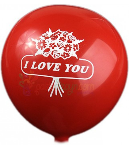 Kırmızı Renk Sevgi Temalı Balon Seti,12 Adet