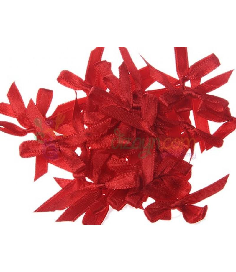 Kırmızı Renk Süsleme Fiyonkları