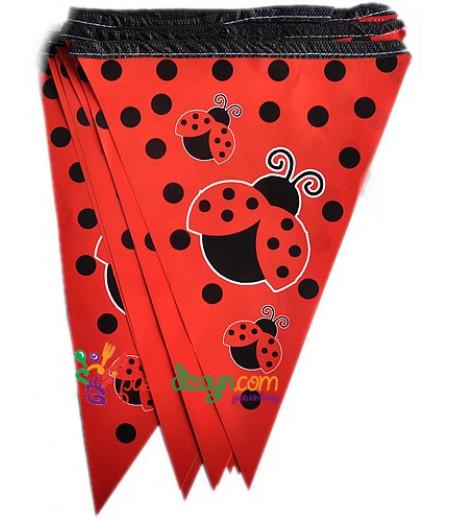 Kırmızı Renk Uğur Böcekli Flamalar,Paket