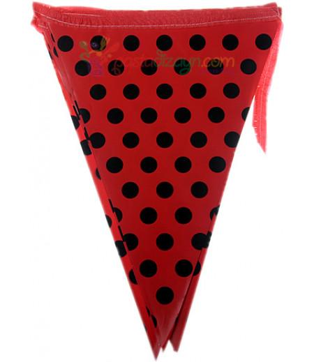 Kırmızı,Siyah Puantiyelı Flamalar,Paket