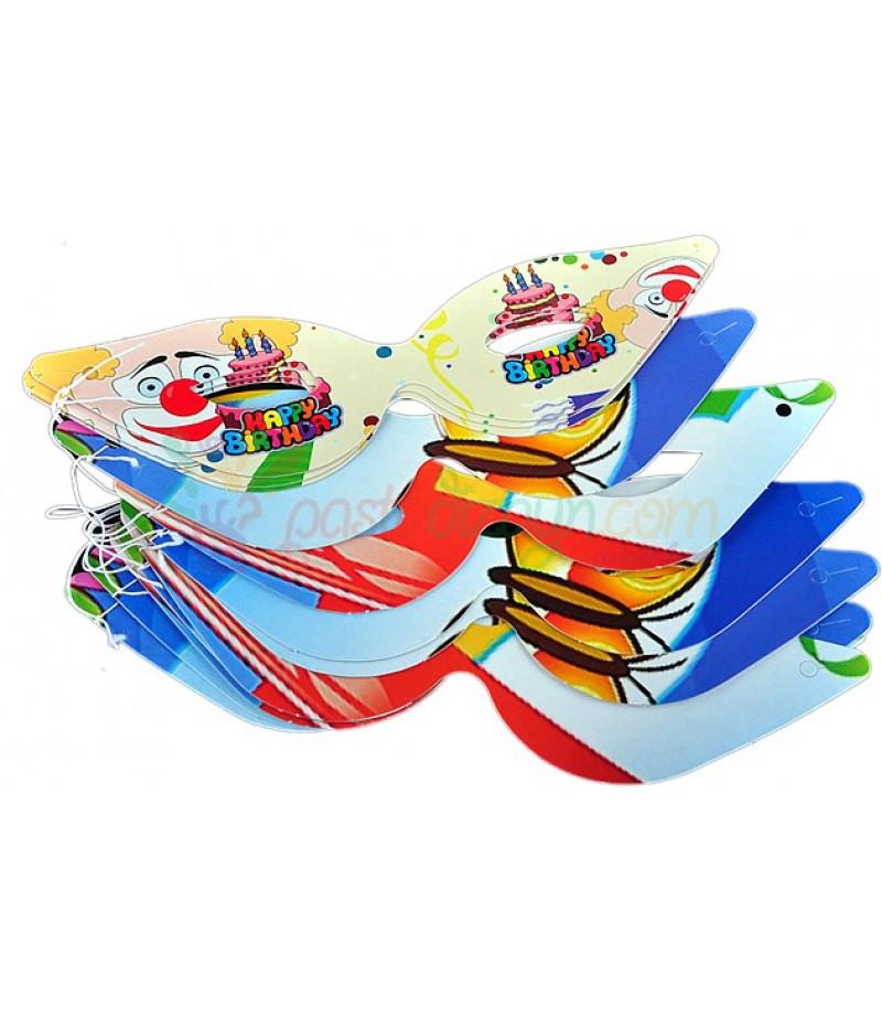 Kağıt Doğum Günü Maskeleri,10 Adet