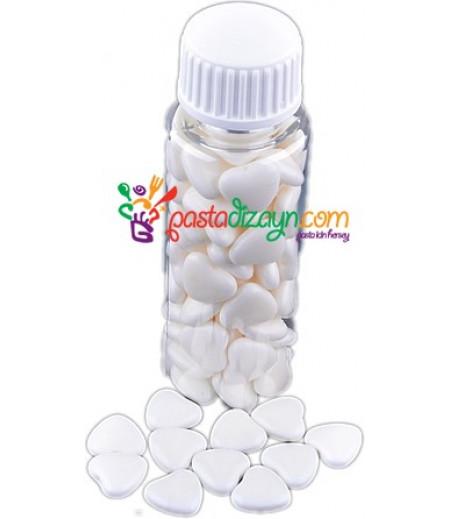 Kalp Şekilli Beyaz Yenilebilir Drajeler,30gr