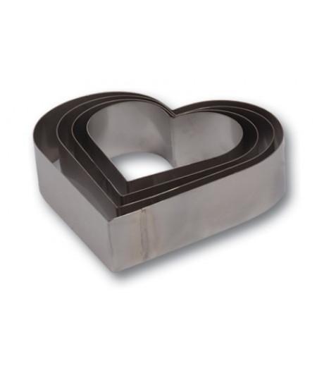 Kalp Şekilli,Pasta,Kek Kalıbı,Çemberi, 4 Adet