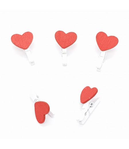 Kalp Desenli Poşet Mandalı Beyaz