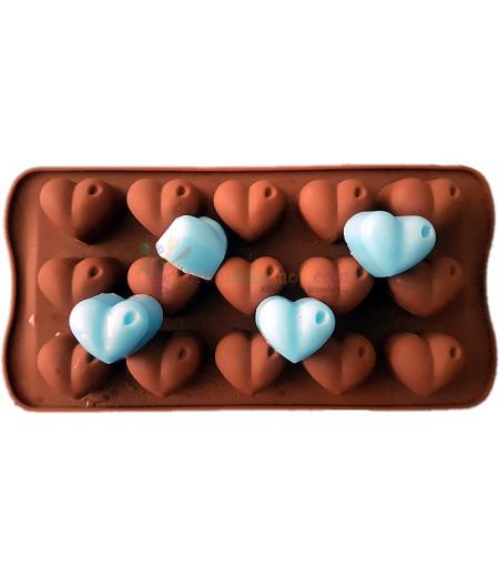 Kalpli ve Noktalı Çikolata,Sabun Kalıbı