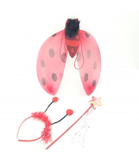 Kanatlı Uğur Böceği Süsleme Kırmızı -2