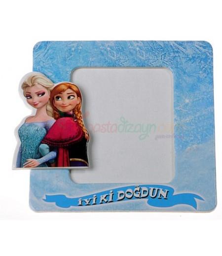 Frozen Temalı Magnetli Fotoğraf Çerçevesi,Adet