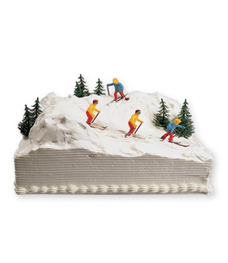 Kayakçı Pasta Süsü (2 Bayan, 2 Erkek Kayakçı)