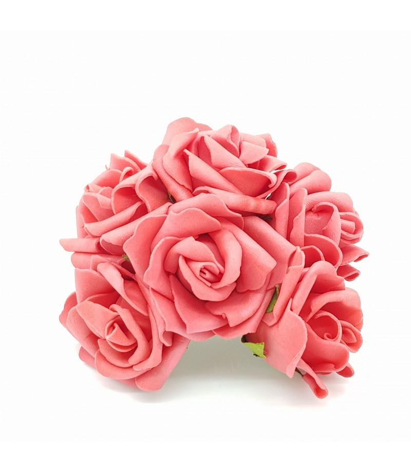 Kırmızı Lateks 6lı Gül  Çiçek