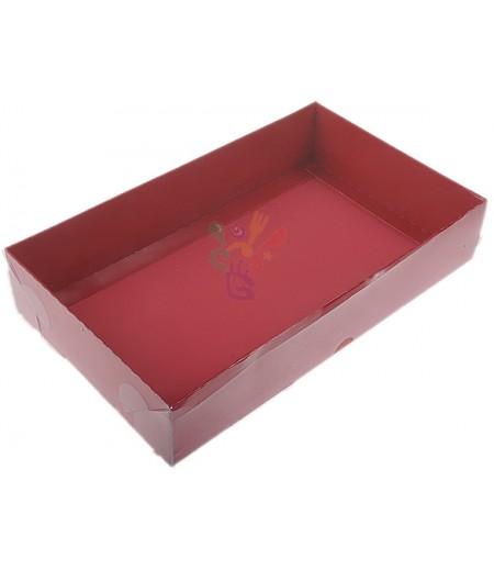 Kırmızı Renk Asetat Kutular,15x25x5cm,Adet