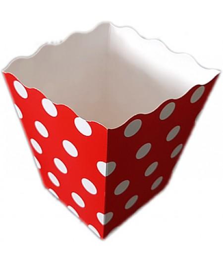 Kırmızı Renk Popcorn Kovası,10 lu