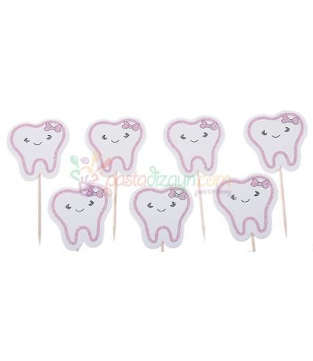 Kız Bebek İçin Diş Kürdanlar,10 Adet