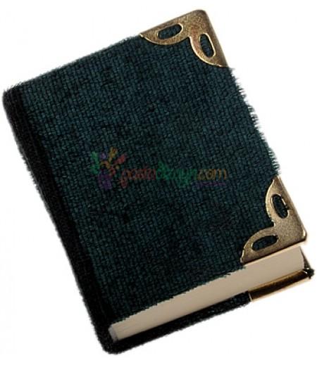 Koyu Yeşil Kadife Kaplı Mini Kuranı Kerim