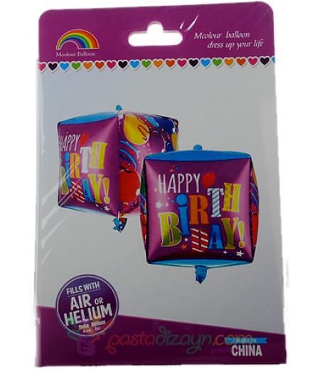 Küp Happy Birthday Yazılı Büyük Folyo Balon
