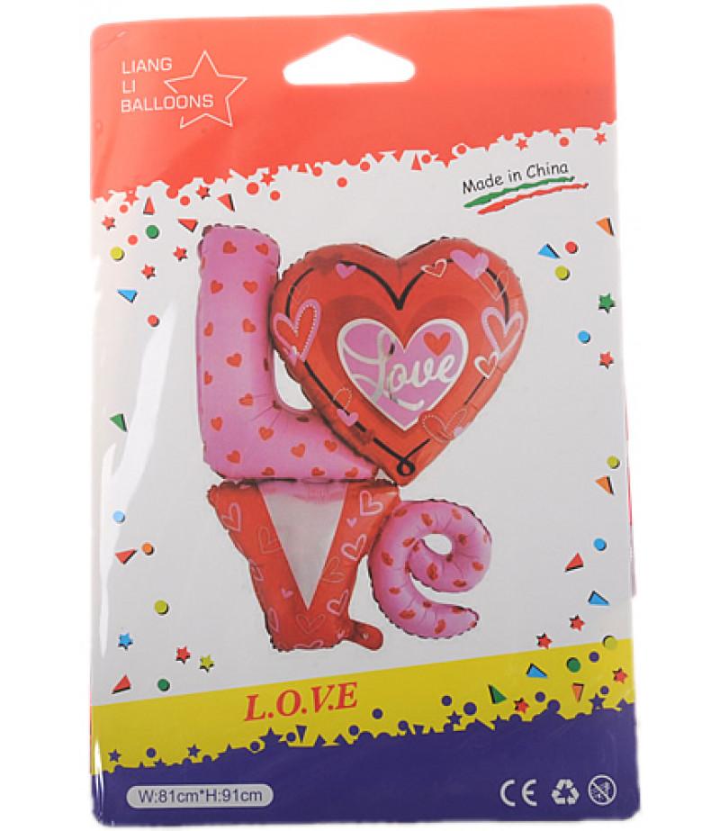 Love Yazılı Büyük Folyo Balon