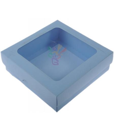 Lüks Mavi Renk Kutu,15x15x5cm,Adet