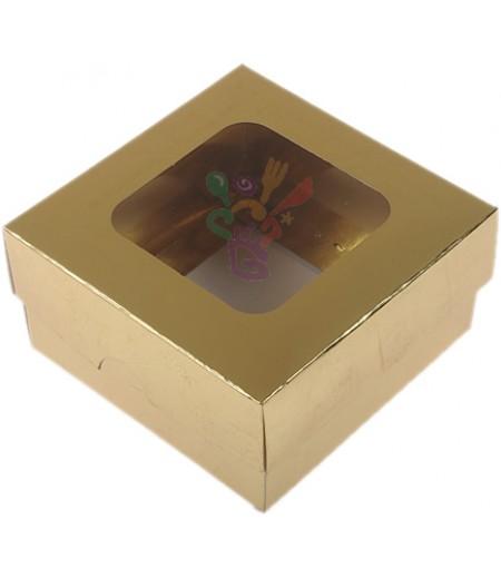 Lüks Altın Rengi Kutu,10x10x5cm,Adet