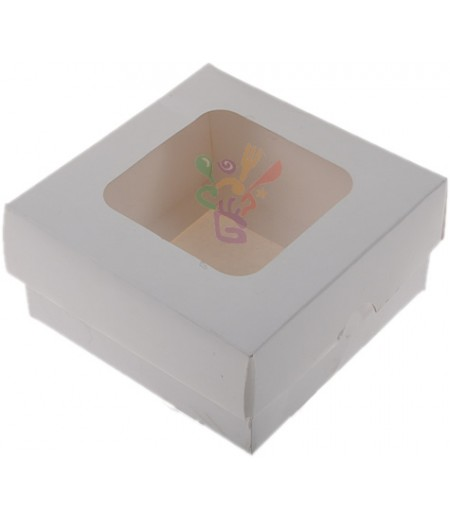 Lüks Beyaz Renk Kutu,10x10x5cm,Adet