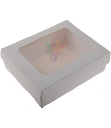 Lüks Beyaz Renk Kutu,12x15x5cm,Adet