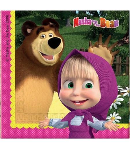 Masha And The Bear Görselli Kağıt Peçeteler,16 Adet