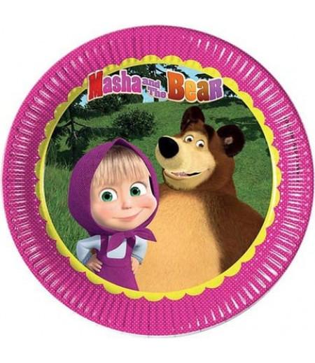 Masha And The Bear Görselli Kağıt Tabaklar,8Adet