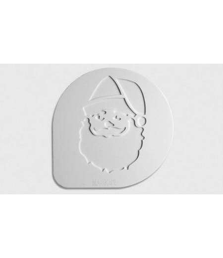 Mask Şablon Tiramisu,Noel Baba Desenli,15 cm